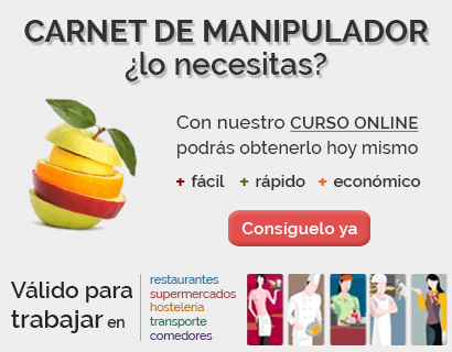 ▷ carnet de manipulador de alimentos | curso 100% validez 2018
